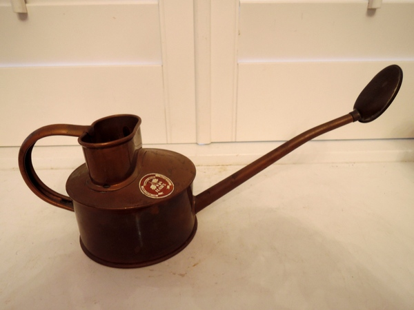 Vintage english haws copper watering can pint size - Haws copper watering can ...