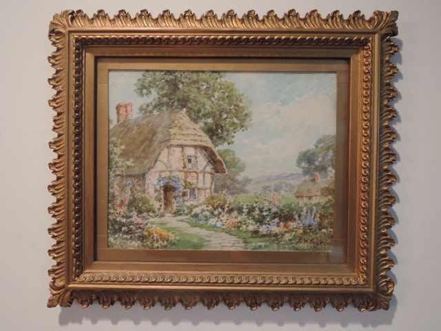 Gilt Framed Signed Dated Watercolor Painting By British