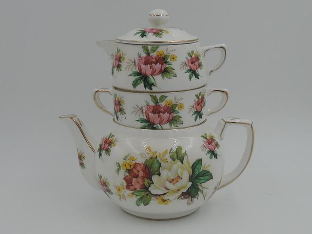 Vintage Hammersley Bone China Stacked Stacking Teapot Tea