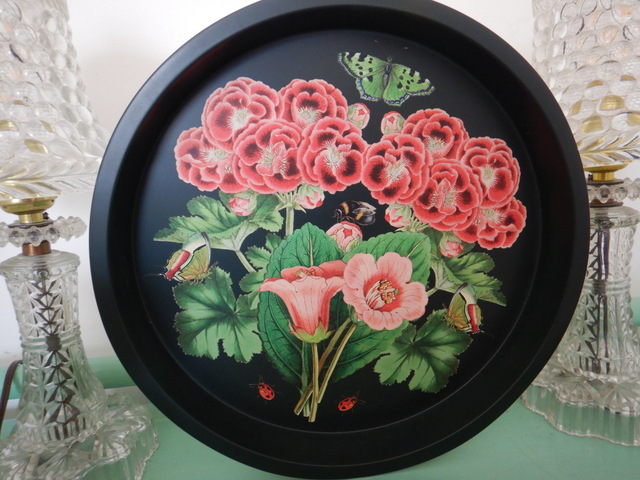 Madame Treacle Midnight Botanical Elite Tin Tray Garden Floral Insects