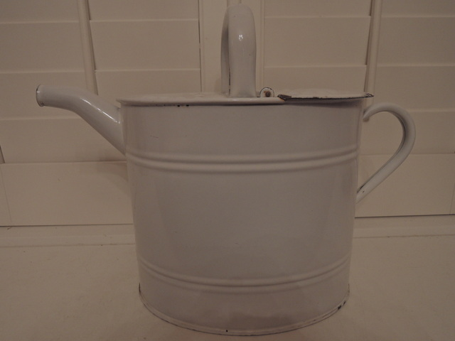 Antique Austria Email Enamelware Hot Water Garden Watering Can Enamel