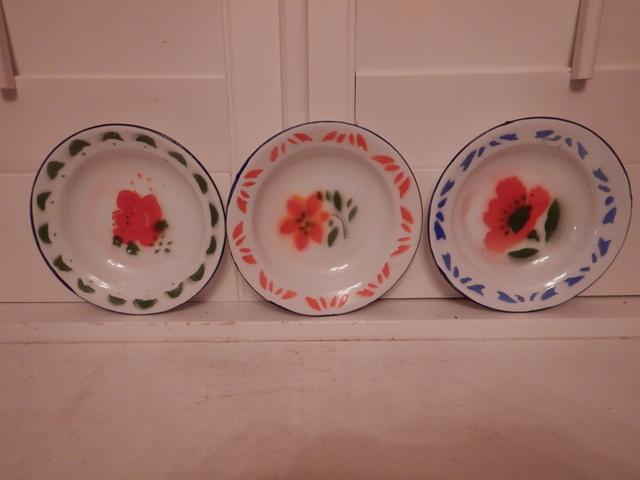 "Set of 3 Amsterdam Enamel Bowls 6.25"" Soup Plates De Emaillekeizer"