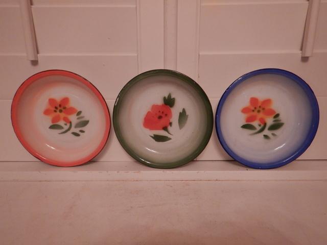 "Set of 3 Amsterdam Enamel Bowls 6.75"" Soup Plates De Emaillekeizer"