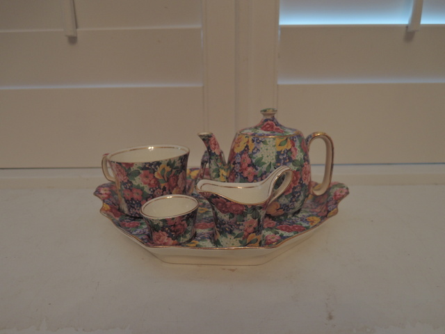 Vintage Royal Winton Chintz Julia Breakfast Set Tea for One Teapot