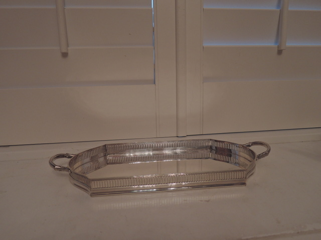Antique Mappin & Webb Princes Plate Silverplate Sheffield Dresser Tray Handled Gallery