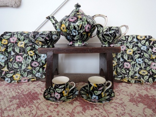 Vintage Royal Winton Chintz Morning Glory Tea Set Teapot
