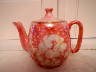 Vintage Royal Winton Chintz Pink Rose Brocade Breakfast Set Teapot for One