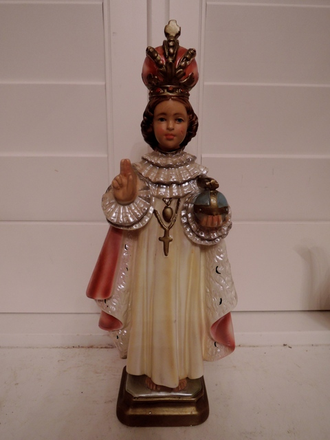 Vintage Italian Infant of Prague Chalkware Religious figure