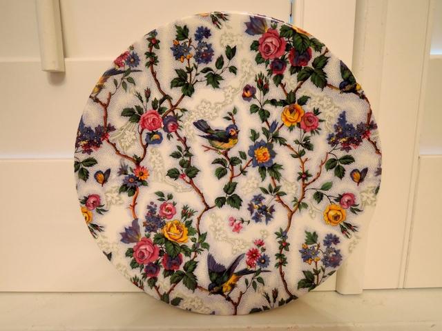 "Vintage Burslem Lorna Doone Chintz 8.75"" Plate Blue Bird"