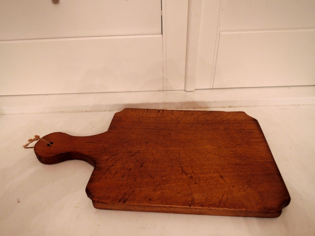 Vintage French Beechwood Wooden Bread/Cheese Cutting Board