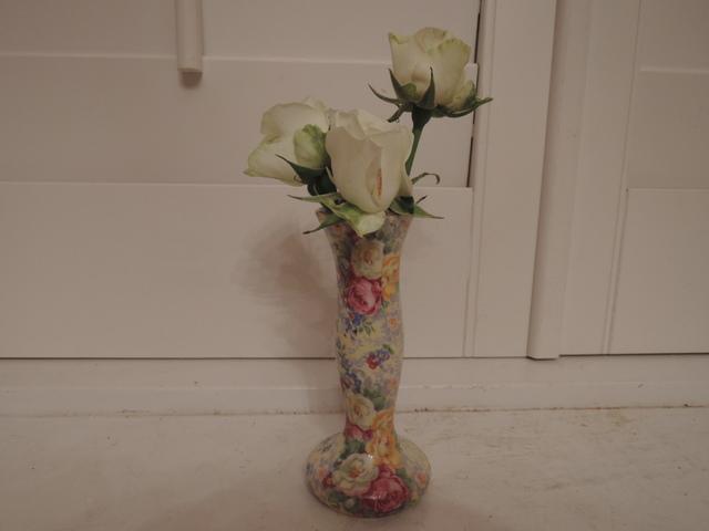 Vintage Lord Nelson Chintz Rose Time Bud Vase Rosetime
