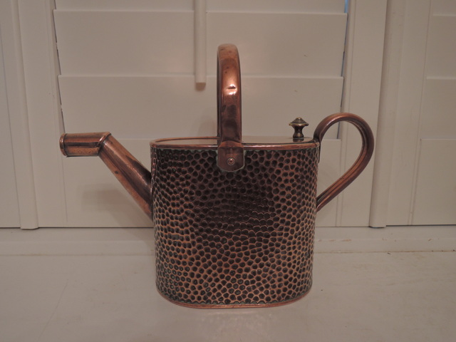 Antique English Hammered Copper Watering Can 1800's Garden