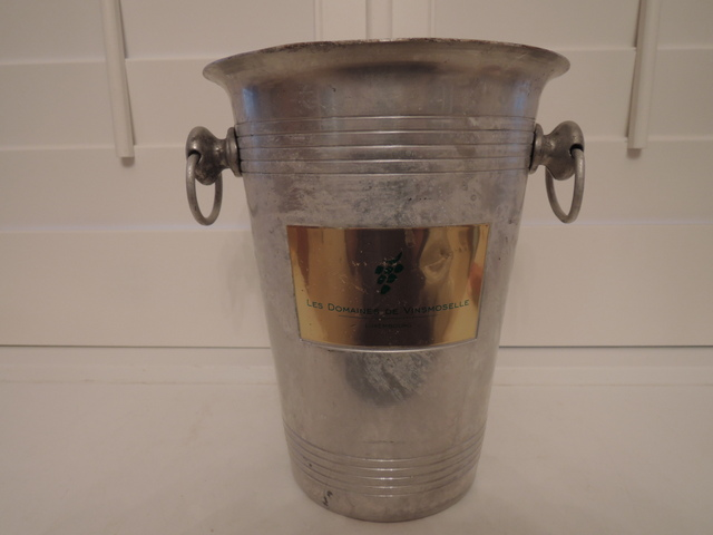 Vintage French Champagne Metal Ice Bucket Luxembourg