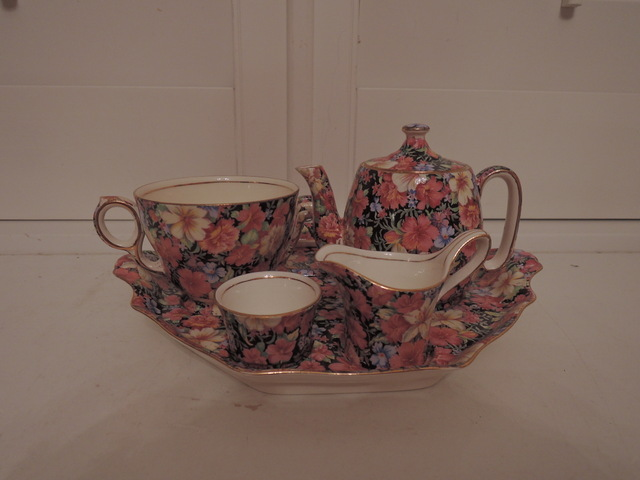 Vintage Royal Winton Chintz Florence Breakfast Set Tea For One Teapot