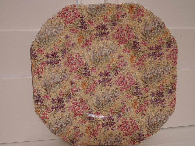 "Vintage Lord Nelson Chintz Heather 9"" Dinner Plate"