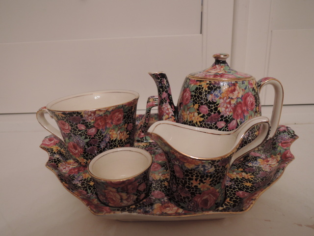 Rare! Vintage Royal Winton Chintz Hazel Breakfast Set Teapot Countess Tea for One