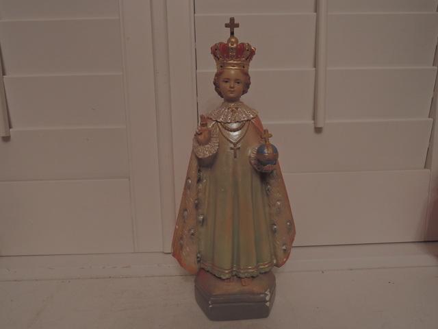 "Vintage Daprato Infant of Prague Plaster Statue 13"" Jesus Religious"