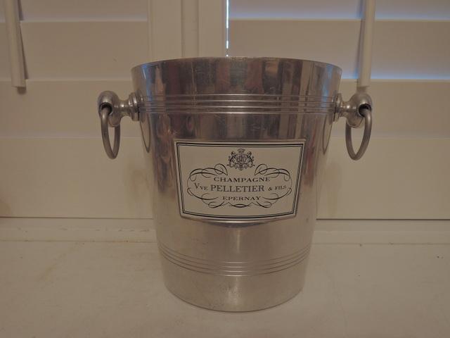 Vintage French Pelletier Champagne Handled Ice Bucket Epernay Argit