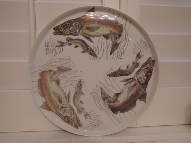 Vintage French Limoges Fish Serving Plate Platter