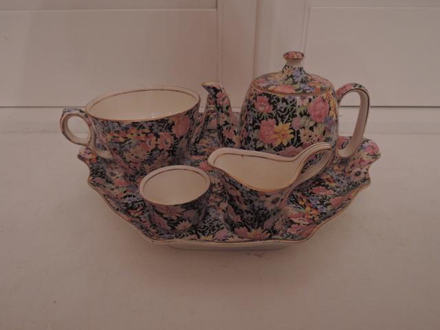Vintage Royal Winton Chintz Balmoral Breakfast Set Teapot Tea For One