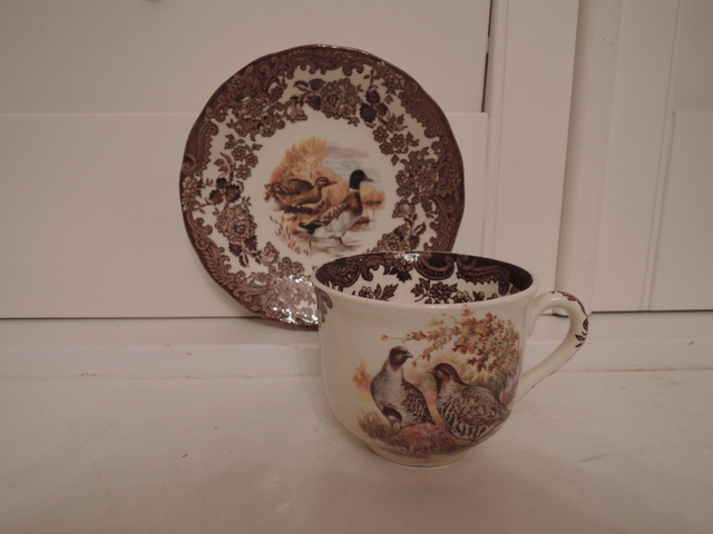 Vintage Royal Worcester Palissy Game Series Cup & Saucer Quails, Mallards Ducks