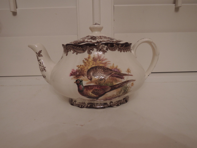 Vintage Royal Worcester Palissy Game Series Teapot Pheasants 6 Cups