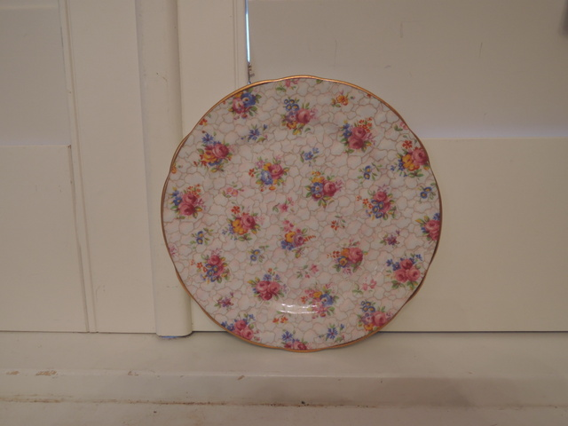 "Vintage Hammersley Chintz 6"" Plate Pink Roses Bone China"