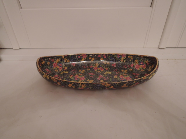 Vintage Royal Winton Chintz Cromer Large Serving Dish/Boat Bowl Pink Roses