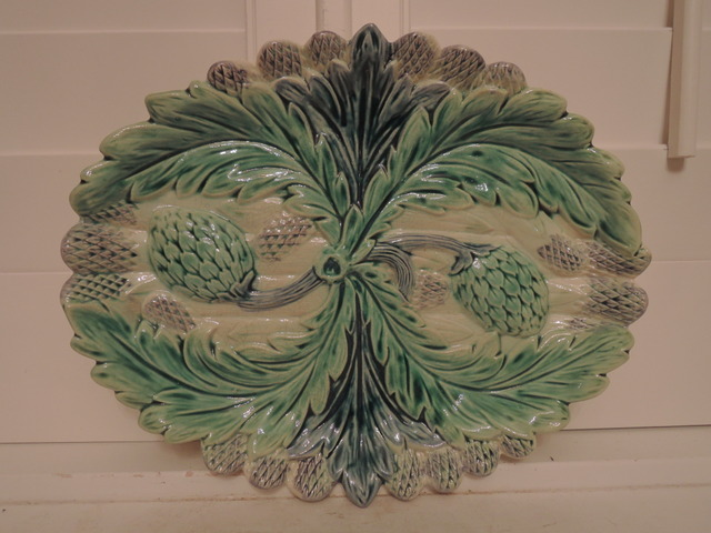 Stunning Antique French Majolica Asparagus Platter 19th C.  Excell. Cond.