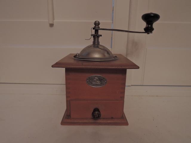 Antique German Zassenhaus Coffee Hand Grinder Mill Spice Dovetail Drawer