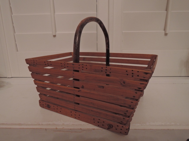 Vintage French Provence Primitive Garden Trug Basket Vegetable Flower
