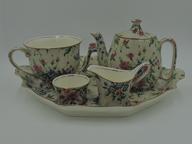 Vintage Royal Winton Chintz Queen Anne Breakfast Set Tea For One