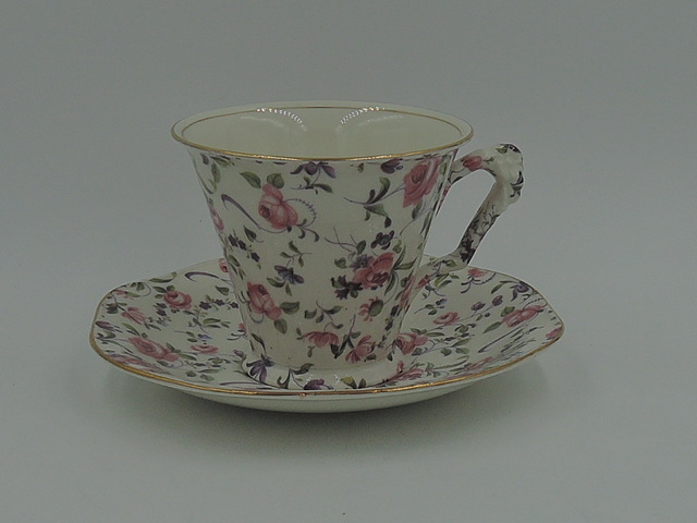 Vintage James Kent Chintz Chelsea Rose Cup & Saucer Teacup