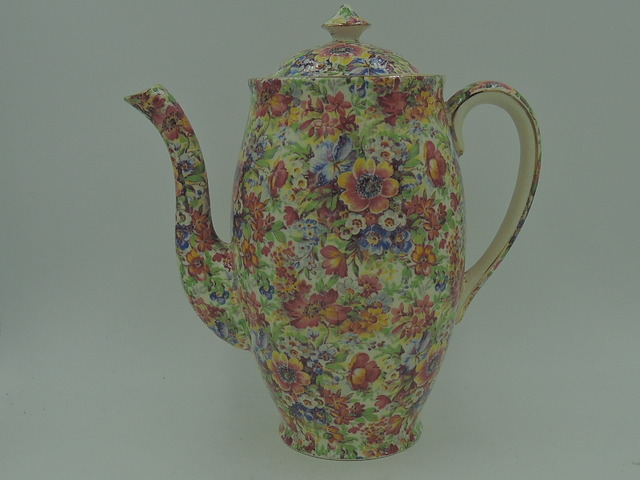 Vintage Royal Winton Chintz Sunshine Coffee Pot Perth Shape