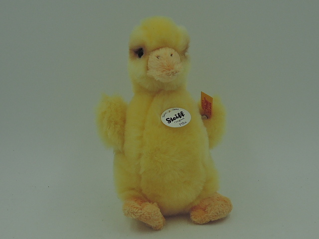 Vintage German Steiff Pilla Duck Stuffed Toy Original Tag 073335 Button Easter