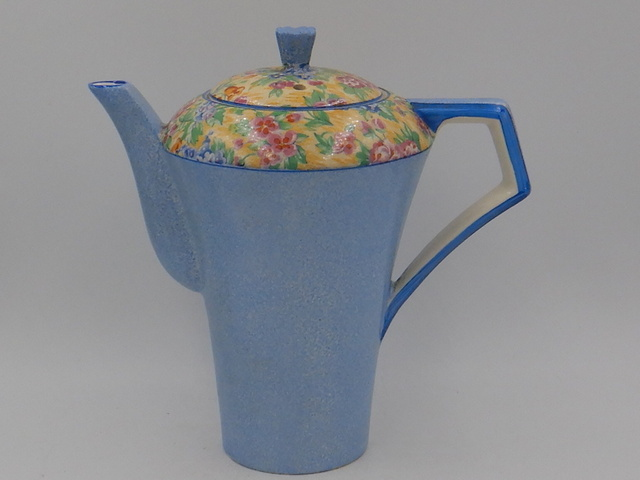 Vintage Royal Tudor Ware Barker Brothers Blue Floral Chintz Teapot/Coffee Pot