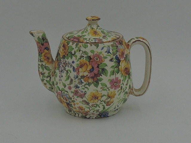 Vintage Royal Winton Chintz Bedale Breakfast Set Teapot Tea For One Countess