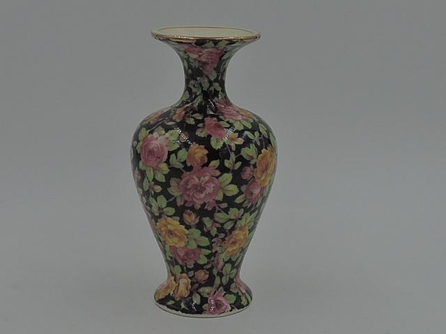 Vintage Royal Winton Chintz Beeston Rose Bud Vase Pink Roses