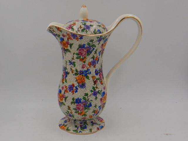 Vintage Erphila Cheery Chintz Warwick Coffee Pot/Hot Water Pitcher Germany