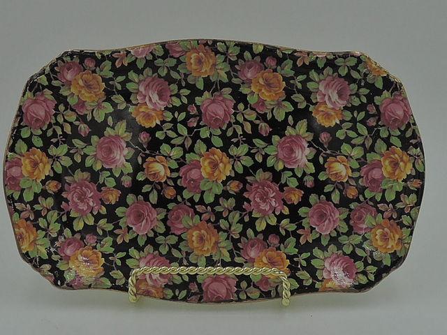 Vintage Royal Winton Chintz Beeston Platter/Plate Dish Pink Roses