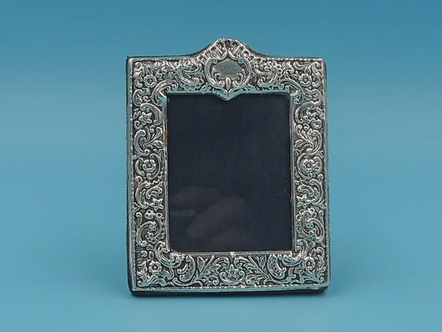 "Vintage English Sterling Silver Ornate Photo Frame Picture 1995 2"" x 2 1/2"""