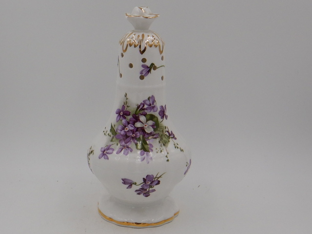 "Hammersley Victorian Violets 7.5"" Sugar Shaker Bone China"