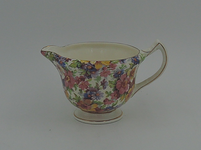 Vintage James Kent Chintz Du Barry Creamer White Handle