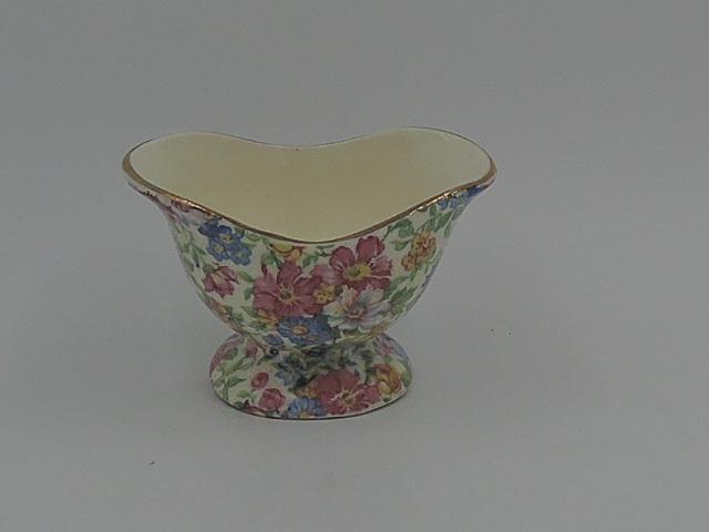 Vintage Erphila Chintz Devon Sugar Cup Czechoslovakia