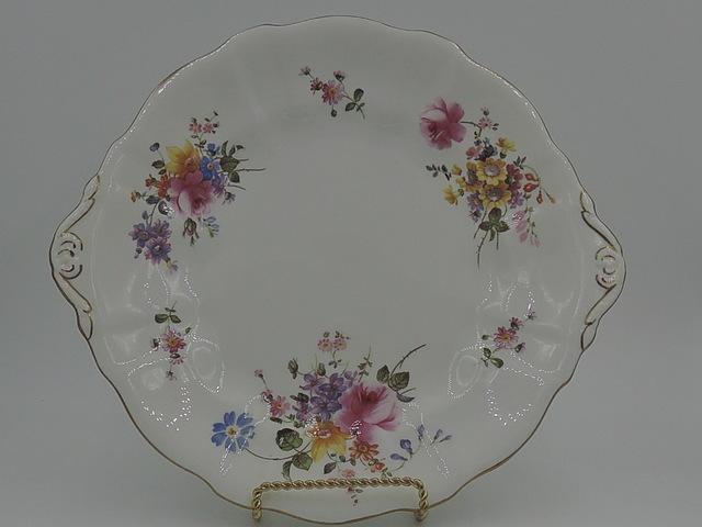 """Vintage Royal Crown Derby Posies Handled 10"""" Plate Bone China"""