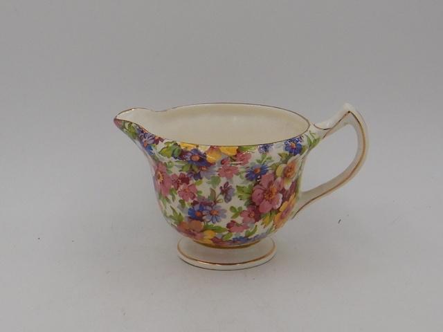 Vintage Pair of Limoges Le Trefle Gold & Pink Roses Wine/Beer Porcelain Cups China