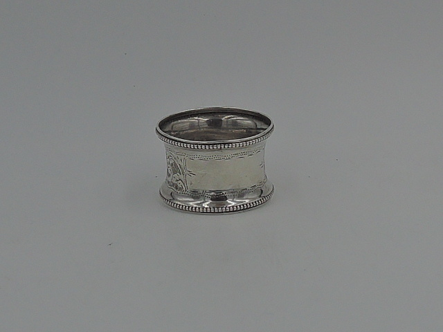 Antique English Sterling Silver Napkin Ring Hallmarked 1938