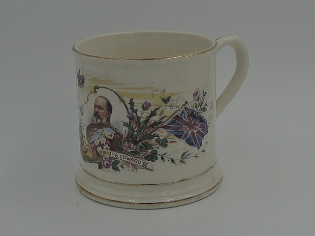 Antique H.M. Queen Alexandra H.M. King Edward VII Commemorative Cup 1902