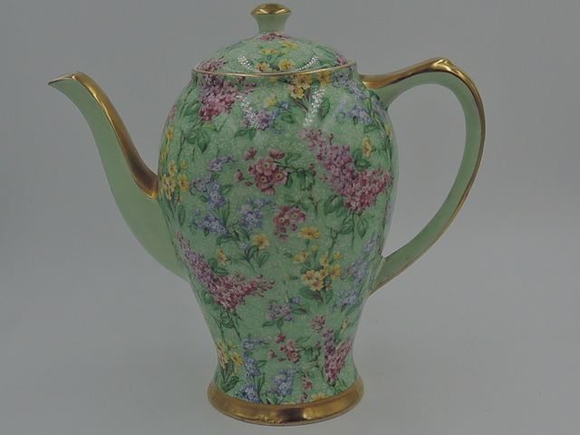 Vintage Empire Chintz Lilac Time Coffee Pot/Teapot Elegant