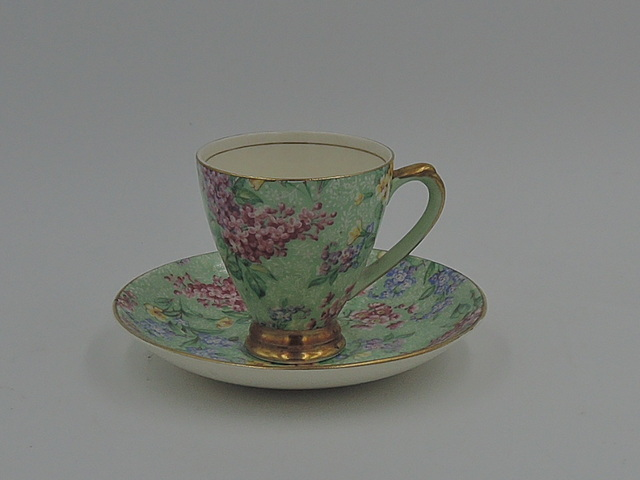 Vintage Empire Chintz Lilac Time Petite Cup & Saucer Teacup